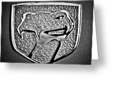 Dodge Viper Emblem -217bw Greeting Card