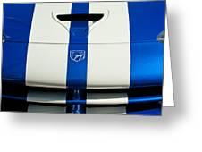Dodge Viper Hood Emblem Greeting Card