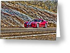 Dodge Viper  V1 Greeting Card
