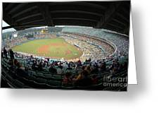 Dodger Stadium Greeting Card by Micah May
