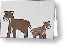 Doe And Fawn Greeting Card