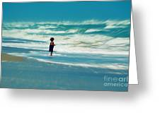 Does The Ocean Ever Stops Greeting Card