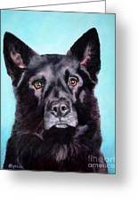 Does This Include Me Black Dog Greeting Card