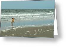 Dog Day Beach Greeting Card