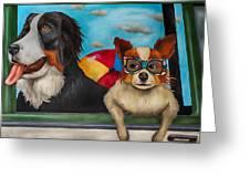Dog Days Of Summer Edit 3 Greeting Card