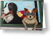 Dog Days Of Summer Greeting Card