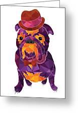 Dog Gentleman Greeting Card