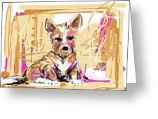dog I did not make this mess Greeting Card