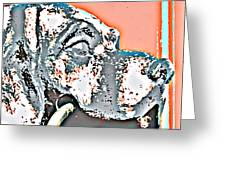 Dog Iron Door Knocker Greeting Card