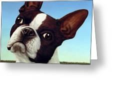 Dog-nature 4 Greeting Card by James W Johnson