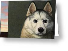 Dog-nature 9 Greeting Card by James W Johnson