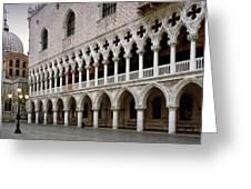 Doge's Palace And Basilica San Marco Greeting Card