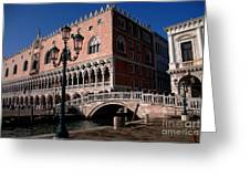 Doges Palace With Bridge Of Sighs Greeting Card