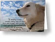 Doggie Soul Greeting Card