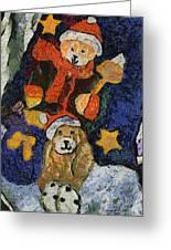 Doggie Xmas Stocking 03 Photo Art Greeting Card