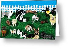 Doggy Daycare Greeting Card by LCS Art