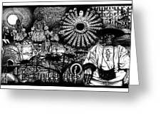 Dogon Dream Greeting Card by Matthew Ridgway