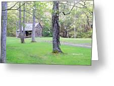 Dogwood Cabin Greeting Card