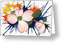 Dogwood Flowers Greeting Card by Nora Blansett