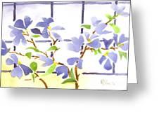 Dogwood In The Window Greeting Card
