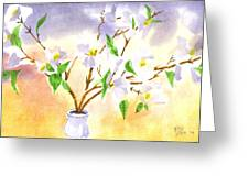 Dogwood In Watercolor Greeting Card