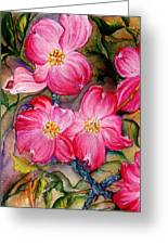 Dogwoods In Pink Greeting Card