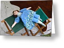 Doll And Camp Chairs 1800s Greeting Card