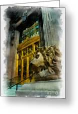 Dollar Bank Lion Pittsburgh Greeting Card