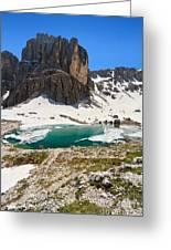 Dolomites - Pisciadu' Peak Greeting Card