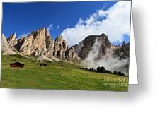 Dolomites In Badia Valley  Greeting Card