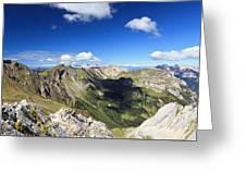 Dolomites Landscape On Summer Greeting Card