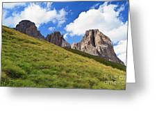 Dolomites On Summer Greeting Card