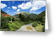 Dolomiti - Avisio Stream Greeting Card