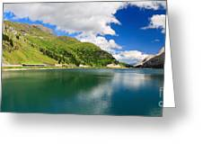 Dolomiti - Fedaia Lake Greeting Card
