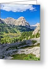 Dolomiti - High Badia Valley Greeting Card