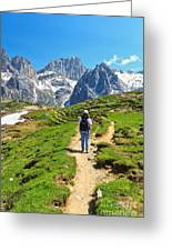 Dolomiti - Hiking In Contrin Valley Greeting Card