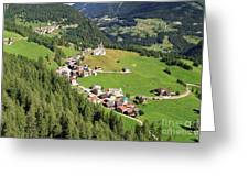 Dolomiti - Laste Village Greeting Card