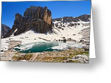 Dolomiti - Pisciadu Lake Greeting Card