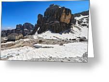 Dolomiti - Pisciadu Peak Greeting Card