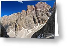 Dolomiti - Piz Da Lech Greeting Card