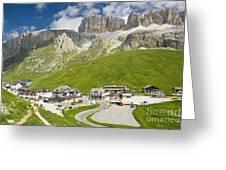 Dolomiti - Pordoi Pass Greeting Card