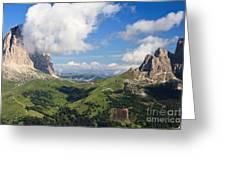 Dolomiti - Sella Pass Greeting Card