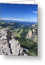 Dolomiti - Val Gardena Greeting Card