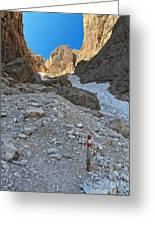 Dolomiti - Val Setus Greeting Card