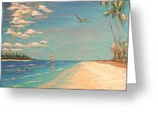 Dolphin Bay Greeting Card by The Beach  Dreamer