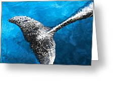 Dolphin Dancing With Light Greeting Card