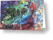 Dolphin Dives Greeting Card
