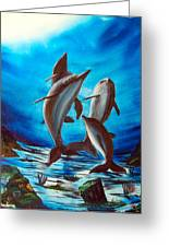 Dolphin Family Greeting Card