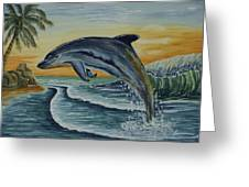 Dolphin Jumping Greeting Card