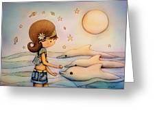 Dolphin Paradise Greeting Card by Karin Taylor